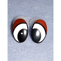 Eye - Oval 30mm Black_Brown Pkg_4