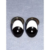 Eye - Oval 30mm Black_White (25 pair) Pkg_50