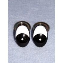 Eye - Oval 30mm Black_White (25 pair) Pkg_50