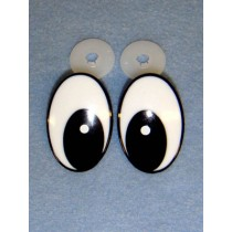 Eyes - Comical - 42mm Black_White 25 Pair