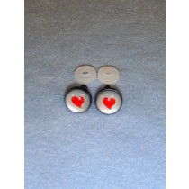 Eyes - Silver w_Red Heart - 12mm Pkg_6