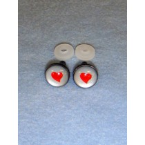 Eyes - Silver w_Red Heart - 14mm Pkg_6