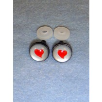 Eye - 16mm Silver w_Red Heart Pkg_6