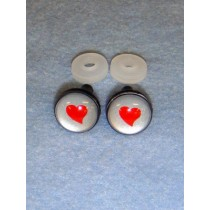 Eyes - Silver w_Red Heart - 18mm Pkg_6