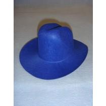 Felt Cowboy Hat - Blue - 7 3_4