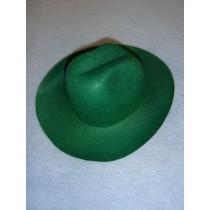 "Felt Cowboy Hat - Green - 7 3_4"""