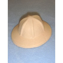 Felt Safari Hat - Beige - 4 1_2""