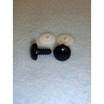Flat Acrylic Solid Black Eyes - 10.5mm Pkg_100
