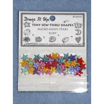 Flirt Buttons - 8mm Stars - Asst Color