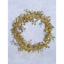 Garland - Mini Star - 9' Gold