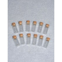 Glass Bottle w_Cork - 12 pcs