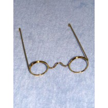 "Glasses - 1 Pc Wire - 3 5_8"" Gold"