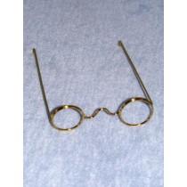 """Glasses - 1 Pc Wire - 3 5_8"""" Gold"""
