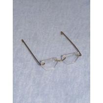 """Glasses - Hexagon - 3 1_4"""" Gold Wire"""