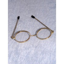 "|Glasses - Oval - 3"" Gold"