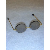 "Glasses - Oval Tinted - 3 1_4"" Gold Wire"