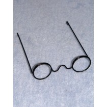 "Glasses - Round - 3 1_2"" Black Wire"