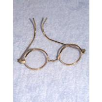 "Glasses - Round Folding - 3"" Gold"