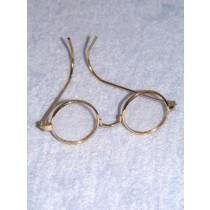"Glasses - Round - 3"" Gold Wire"