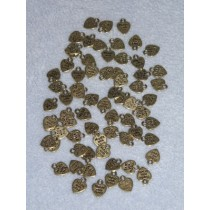 Gold Cast Metal Charms - Made w_Love - Pkg 70