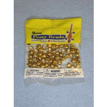 Gold Pony Beads 9mm