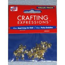 Gold Small Crimp Beads - Pkg_60