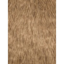Gold Tip Dyed Fox Fur Fabric - 1 Yd