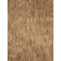 Gold Tip Dyed Fox Fur Fabric - 1 Yd