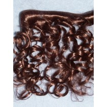 Hair - Synthetic Mohair Weft - Chestnut Brown - 1 Yd