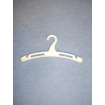 """Hangers - Plastic - 4"""" White Pkg_12"""