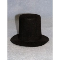 "Hat -Stove Pipe - 6"" Black"