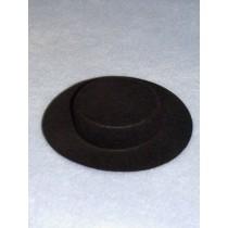 "Hat - Amish - 2 1_2"" Black"