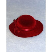 "Hat - Classic Flocked - 7"" Burgundy"