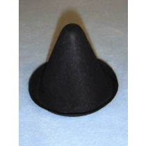 "Hat - Clown - 3"" Black"
