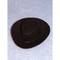 "Hat - Cowboy - 3"" Black"