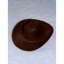 "Hat - Cowboy - 4"" Brown"