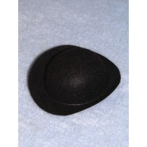 "Hat - Derby - 3"" Black"