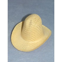 "Hat - Farmer Straw - 3"" Natural"