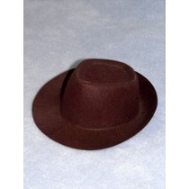 "Hat - Fedora - 3 1_2"" Brown"