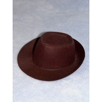 "Hat - Fedora - 5 1_2"" Brown"