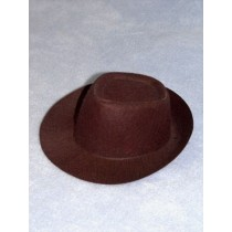 "Hat - Fedora - 8"" Brown"