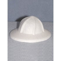 "Hat - Felt Safari - 4.25"" White"