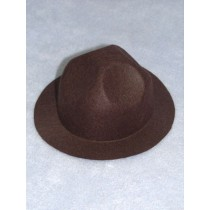 "Hat - Felt Smokey - 3 1_2"" Brown"
