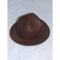 "Hat - Felt Smokey - 3 1_2"" Brown"