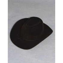 "Hat - Flocked Cowboy - 4"" Black"