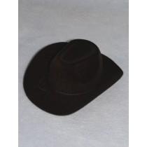 "Hat - Flocked Cowboy - 4"" Black"