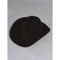 "|Hat - Flocked Cowboy - 6"" Black"