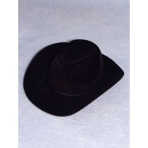 "|Hat - Flocked Cowboy - 7"" Black"