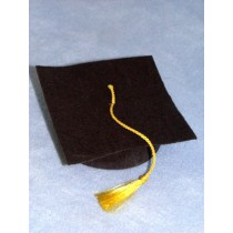 "Hat - Graduation - 2"" Black"
