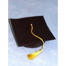 "Hat - Graduation - 3"" Black"